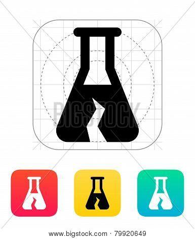 Broken bulb icon. Vector illustration.