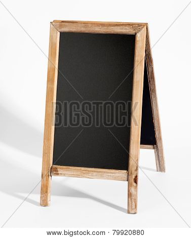 Blank A-frame Blackboard On White