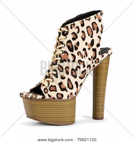Stylish Leopard Print High Heel Shoe