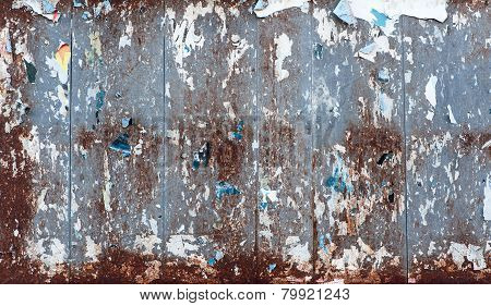 Grunge Texture Of A Weathered Old Placard