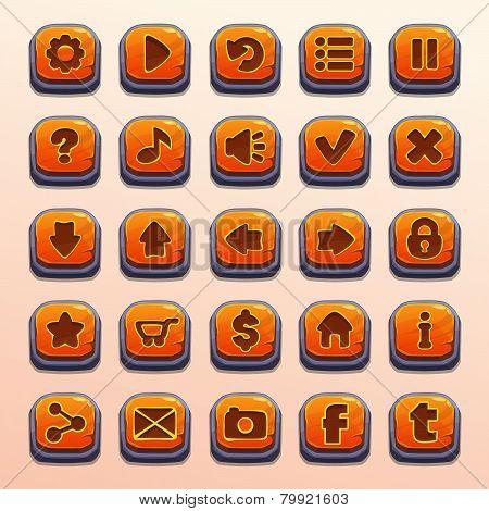 cartoon orange buttons