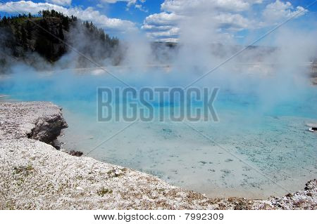 Excelsior Geyser Crater at Yellowstone National Park