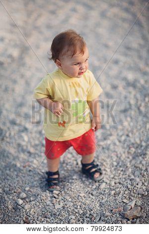 Cute Baby Girl Walking