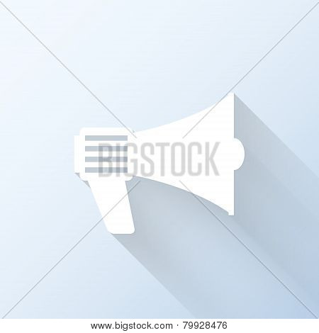 Flat Loudspeaker Icon. Vector Illustration