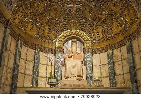 Chapel Of St. Benedict. Dormition . Israel.