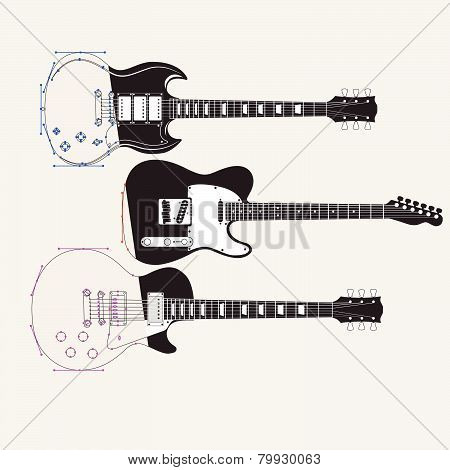abstract Guitar Music Background