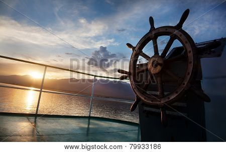 Cruise At Sunset
