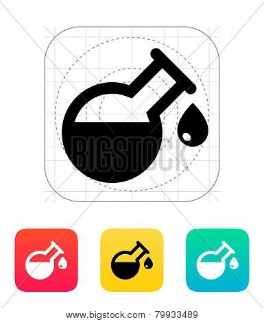 Drop from florence flask icon. Vector illustration.