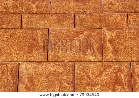 Brown Cladding Tiles Imitating Stones