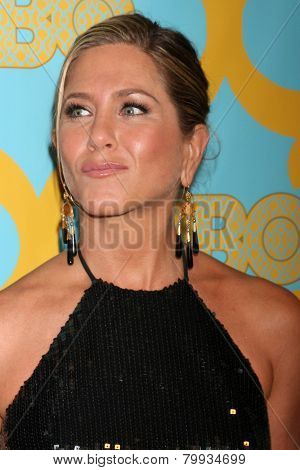 LOS ANGELES - JAN 11:  Jennifer Aniston at the HBO Post Golden Globe Party at a Circa 55, Beverly Hilton Hotel on January 11, 2015 in Beverly Hills, CA