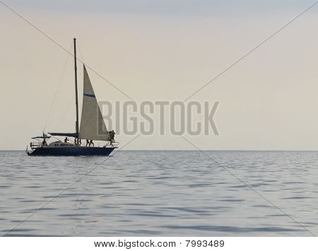 Yacht With People