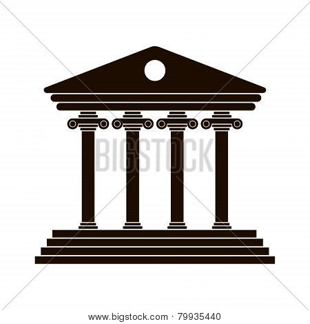 black Greek colonnade