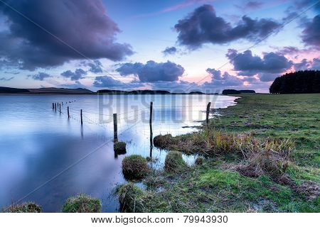 Dusk At Crowdy On Bodmin Moor