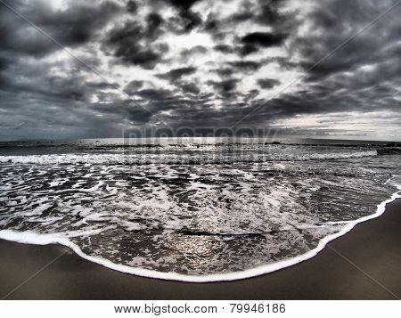 Dramatic Stormy Sky On Beach
