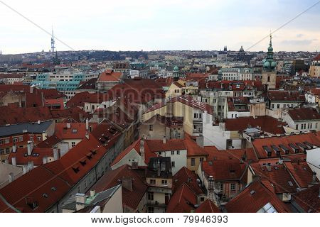Landscape Of Prague From Astronomical Clock Tower