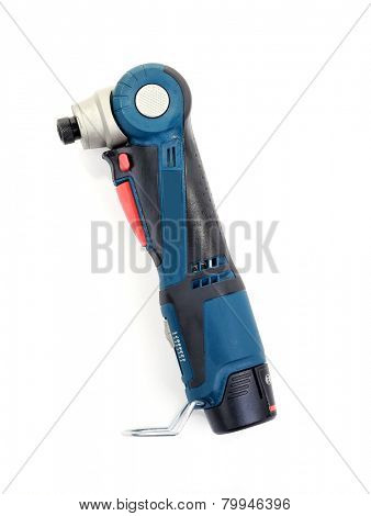 Electric screwdriver isolated on white