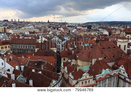 View Of Prague From Astronomical Clock Tower