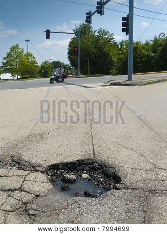 Pothole at lights