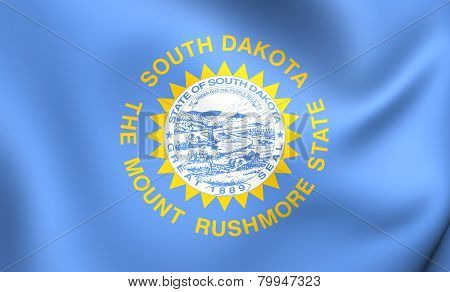 Flag Of South Dakota, Usa.