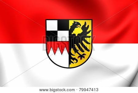 Flag Of Middle Franconia, Germany.