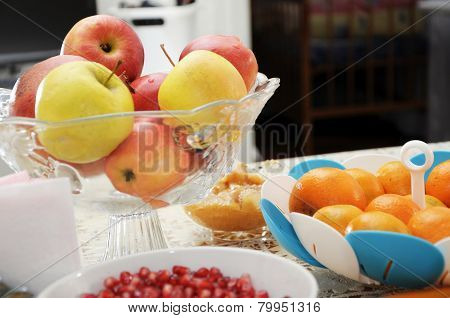 Festive Table With Fruits
