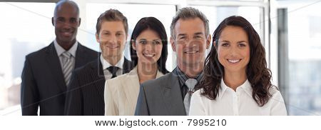 Business Woman Leading A Business Team
