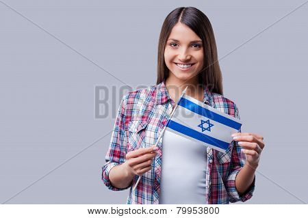 Beauty With Israeli Flag.