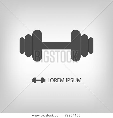 Grey dumbbell logo