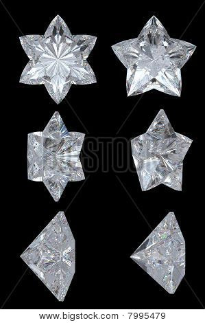 Five Pointed, Six Point Diamond Stars