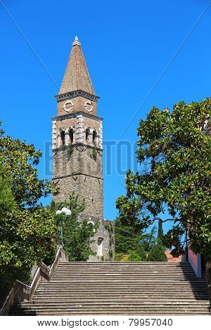 St. Bernardin Church In Portoroz, Slovenia