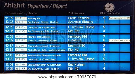 Train Departure Board
