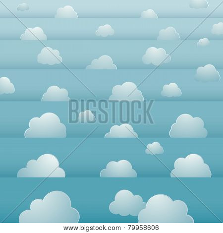seamless background design with cloudy bright sky