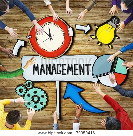Aerial View People Time Management Teamwork Ideas Concepts