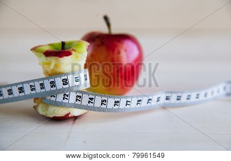 Apple Stump And Measuring Tape