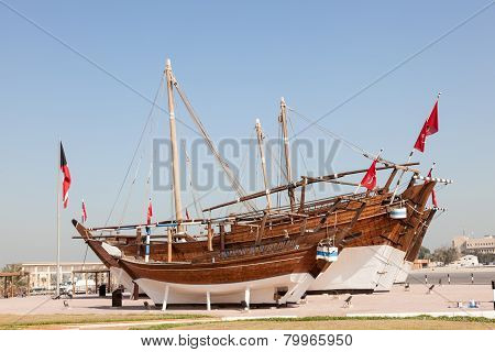 Historic Dhow Ships In Kuwait