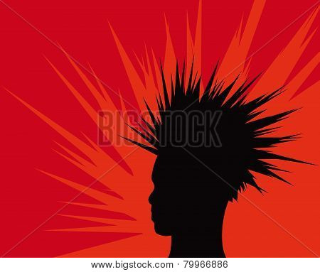 Man With Spiky Hair