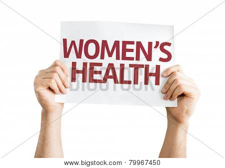 Women's Health card isolated on white background