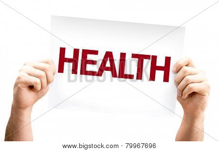 Health card isolated on white background