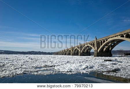 Bridge on Frozen River