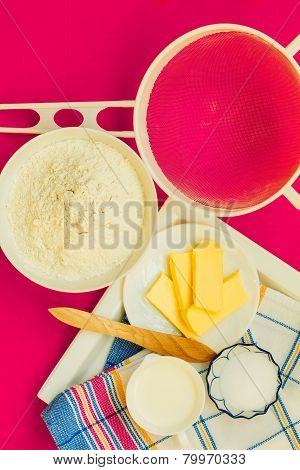 Preparation For Baking, Bake Ingredients.