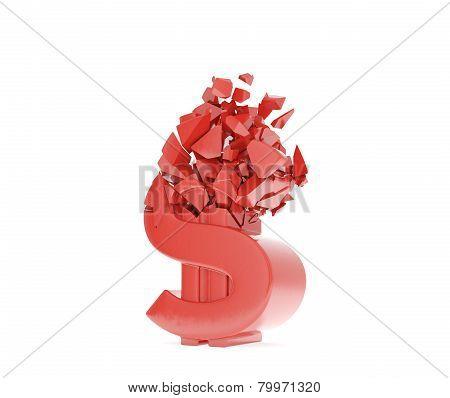 Crush Red Dollar