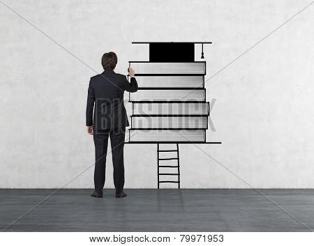 Businessman Drawing Book