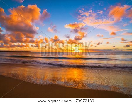 Beautiful tropical sunset on the beach