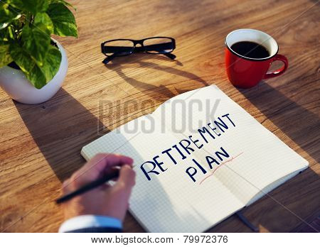 Businessman Retirement Plan Ideas Planning Benefits Concept