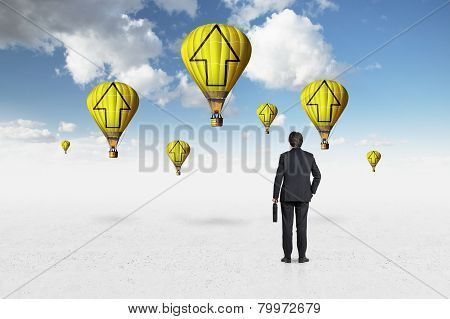 Businessman Looking On Aerostat I
