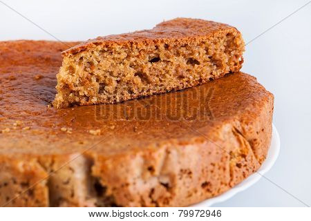piece of cake on whole baked