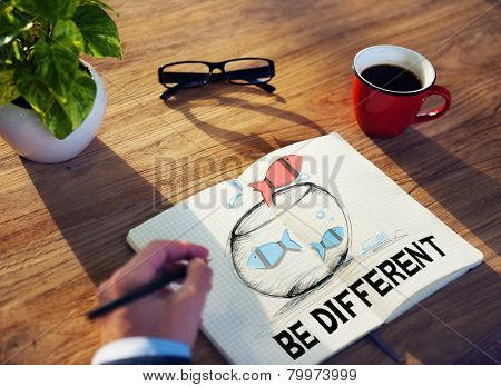 Business Be Different Motivate Idea Planning Concept