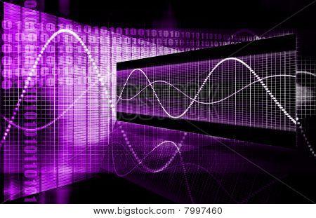 Purple Futuristic Business Chart