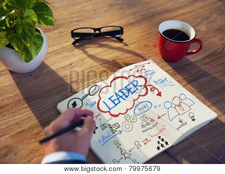 Working Notepad Leader Coaching Traiining Management Concept