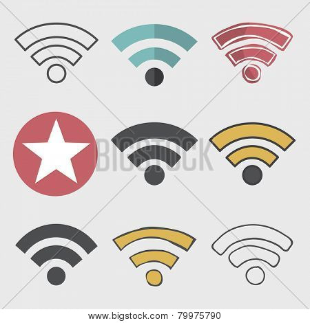 Wifi Wireless Technolgy Online Network Icon Vector Concept